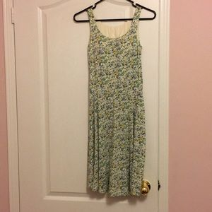 Uniqlo Yellow and Green Built-In Bra Summer Dress
